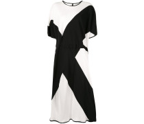 Void two-tone flared dress