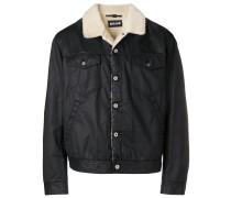shearling-lined denim jacket