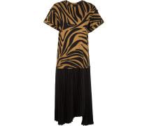 T-Shirtkleid mit Zebramuster