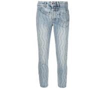 'Crystal Wave' Skinny-Jeans