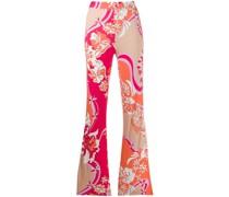 Ausgestellte Hose mit Blumen-Print
