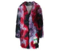 'Yankee' Mantel aus Faux Fur