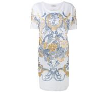 T-Shirt-Kleid mit Barock-Print