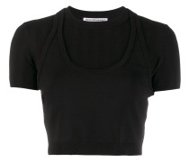 Cropped-T-Shirt im Layering-Look
