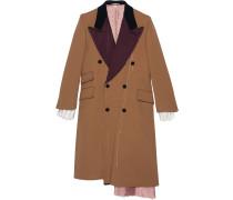 Mantel mit Ziernähten