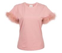 Zoie feather trim T-shirt
