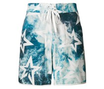 Super Mojo ocean print swim shorts