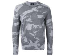 Wollpullover mit Camouflage-Print