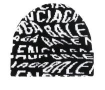 Intarsien-Mütze mit Logos