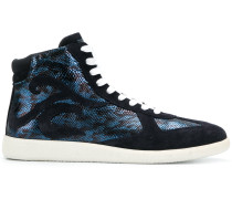 snakeskin effect hi tops