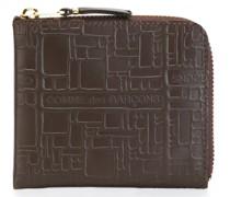 Portemonnaie mit geometrischer Prägung