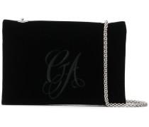 embroidered velvet chain bag