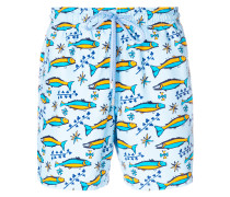 fish print swim shorts