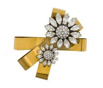 floral embellished brooch