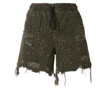 Shorts mit Leopardenmuster