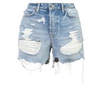 Shorts mit Distressed-Optik