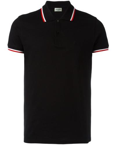 Poloshirt mit Streifenborte