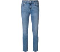 Cropped-Skinny-Jeans mit hohem Bund
