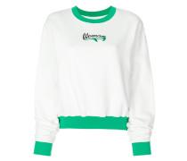 embroidered detail sweatshirt