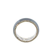 Ring aus 9kt Gelbgold und Sterlingsilber