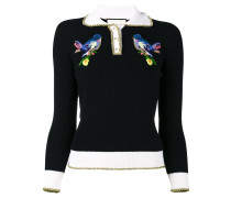 Pullover mit Vogelstickerei
