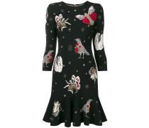 Intarsien-Kleid mit Tiermotiven