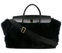 'Evera' Handtasche mit Fuchspelzbesatz