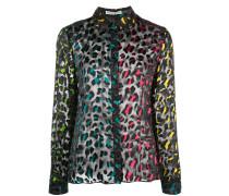 sheer leopard print shirt