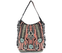 embroidered detail shoulder bag