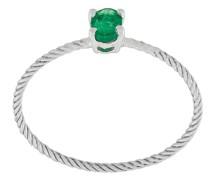 18kt Weißgoldring mit Smaragd