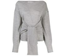 Pullover mit geknoteter Vorderseite
