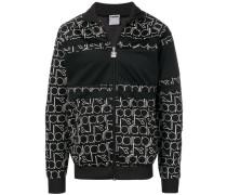 all-over logo zip sweatshirt