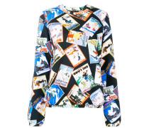 Sweatshirt mit Postkarten-Print