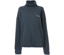 Logo Stitched Turtleneck Sweatshirt
