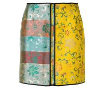 floral jacquard mini skirt