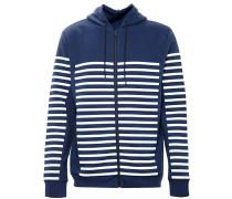 Striped Hooded Jersey Sweatshirt