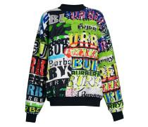Sweatshirt mit Graffiti-Print
