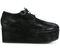 Derby-Schuhe mit Pleatausohle
