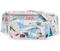 comic print belt bag
