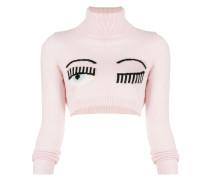 Pullover mit Wimpernstickerei