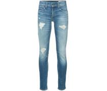 'Dre' Skinny-Jeans in Distressed-Optik