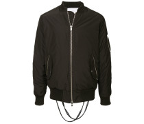 logo straps bomber jacket a