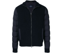 knitted front padded jacket