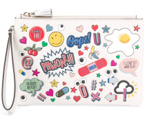 'All Over Wink Stickers' Clutch