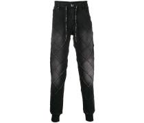 Jeans-Jogginghose mit Kordelzug