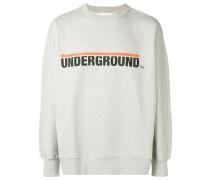 Underground print sweatshirt