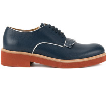 contrast fringed derby shoes