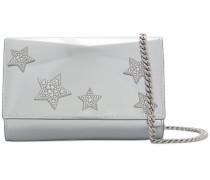 'Lori' Metallic-Schultertasche mit Sternen