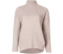 roll-neck fitted sweater