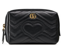 Black GG Marmont Leather cosmetic case
